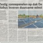 Krantenartikel AmersfoortNU 25-9-2013 Zon@School